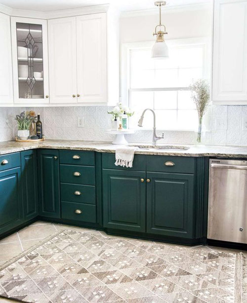 Indesign by Fanusta Green and White Kitchen