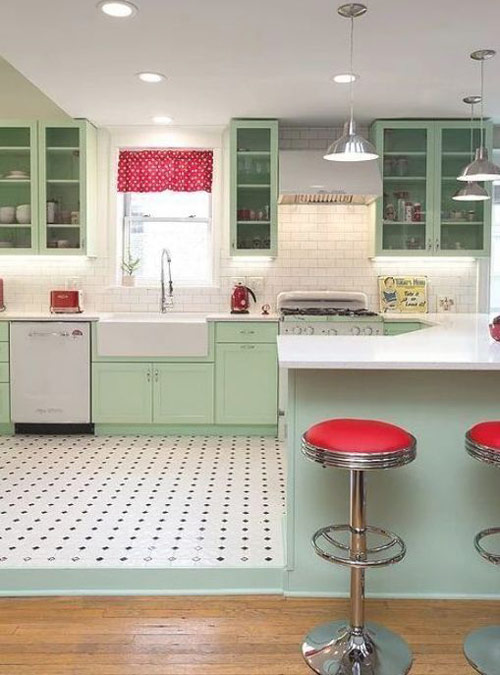 Indesign by Fanusta Red and Green Kitchen Colour